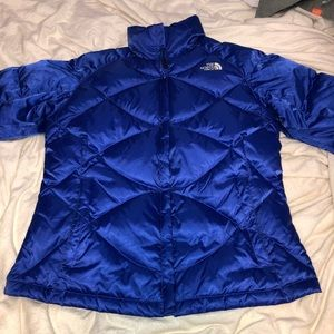 ROYAL BLUE NORTH FACE DOWN COAT MEDIUM BARELY USED